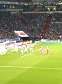 Veltins-Arena: Schalke - HSV: Eckball HSV