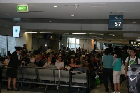 Christchurch - Am Flughafen