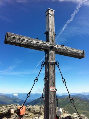 Rastkogel - Gipfelkreuz des Rastkogel auf 2762m