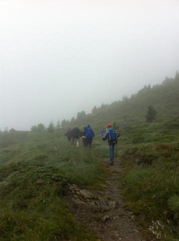 Rastkogelhütte - Anmarsch bei schlechtem Wetter am Freitag zur Rastkogelhütte
