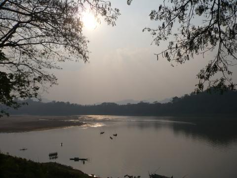 Louangphrabang - Sunset am Mekong