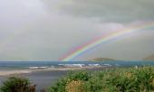 Regenbogen am Río Ibáñez