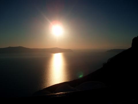 Thíra - Sonnenuntergang Fira