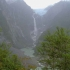 Colgante-Gletscher und Wasserfall