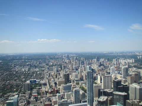 Toronto - View vom CN Tower