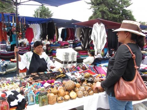 Otavalo - Marktgeschehen
