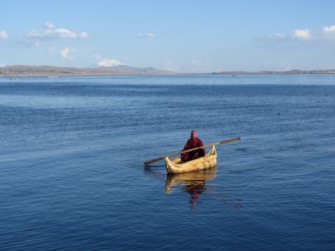 Huatajata - Schilfboot