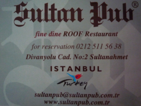 İstanbul - Sultan Pub