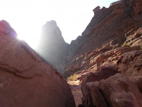 Wadi Rum - Sonnenaufgang