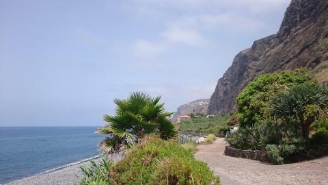 Küstenstreifen und Steilküste