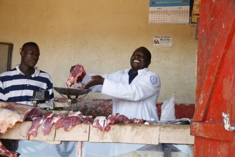 Fleischverkäufer in Jinja
