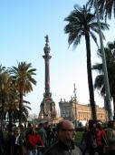 "Blick auf das ""Monument a Cristofol Colom"""