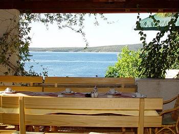 "Otok Hvar - Blick vom Restaurant ""Skalinada"""