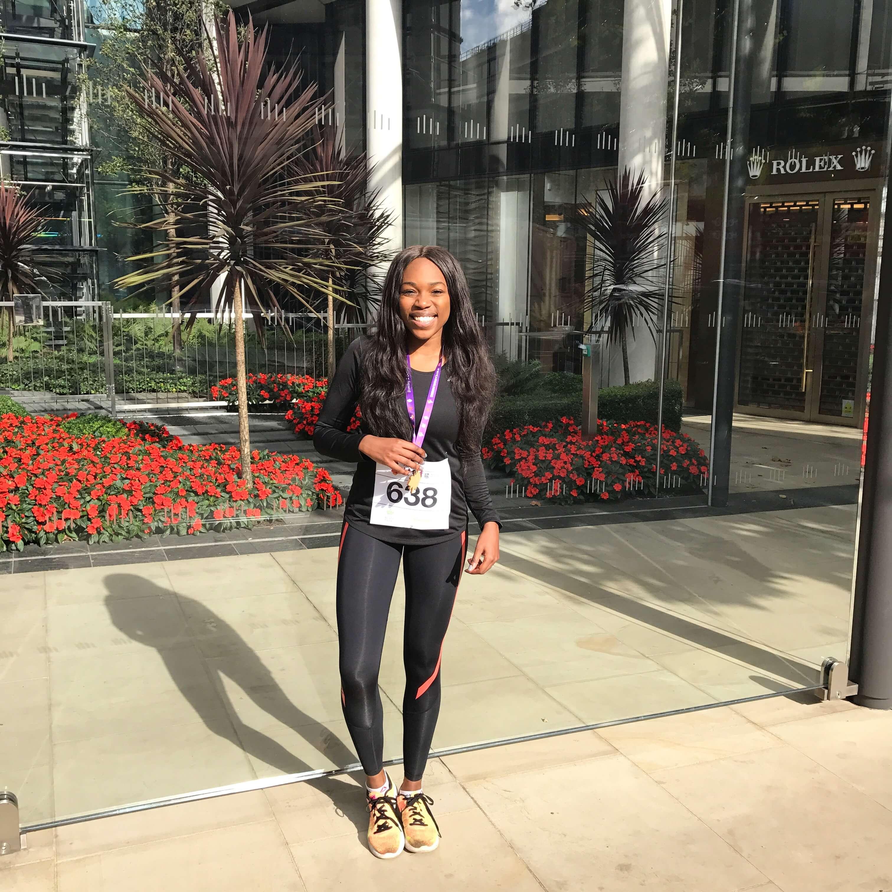 Tashi Skervin-Clarke at Royal Parks Half Marathon 2017