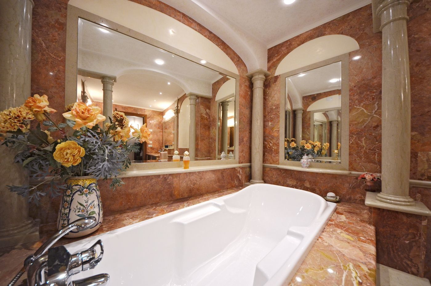 the bathtub of the master bathroom is a real treat