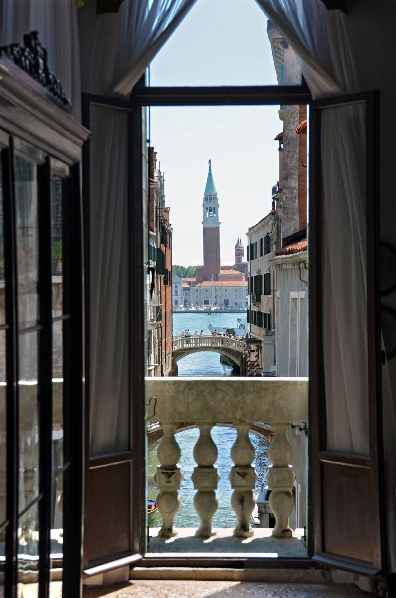 view from the library on San Giorgio Maggiore island across St. Mark's Basin