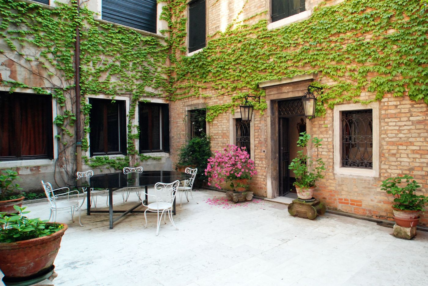 spacious communal courtyard