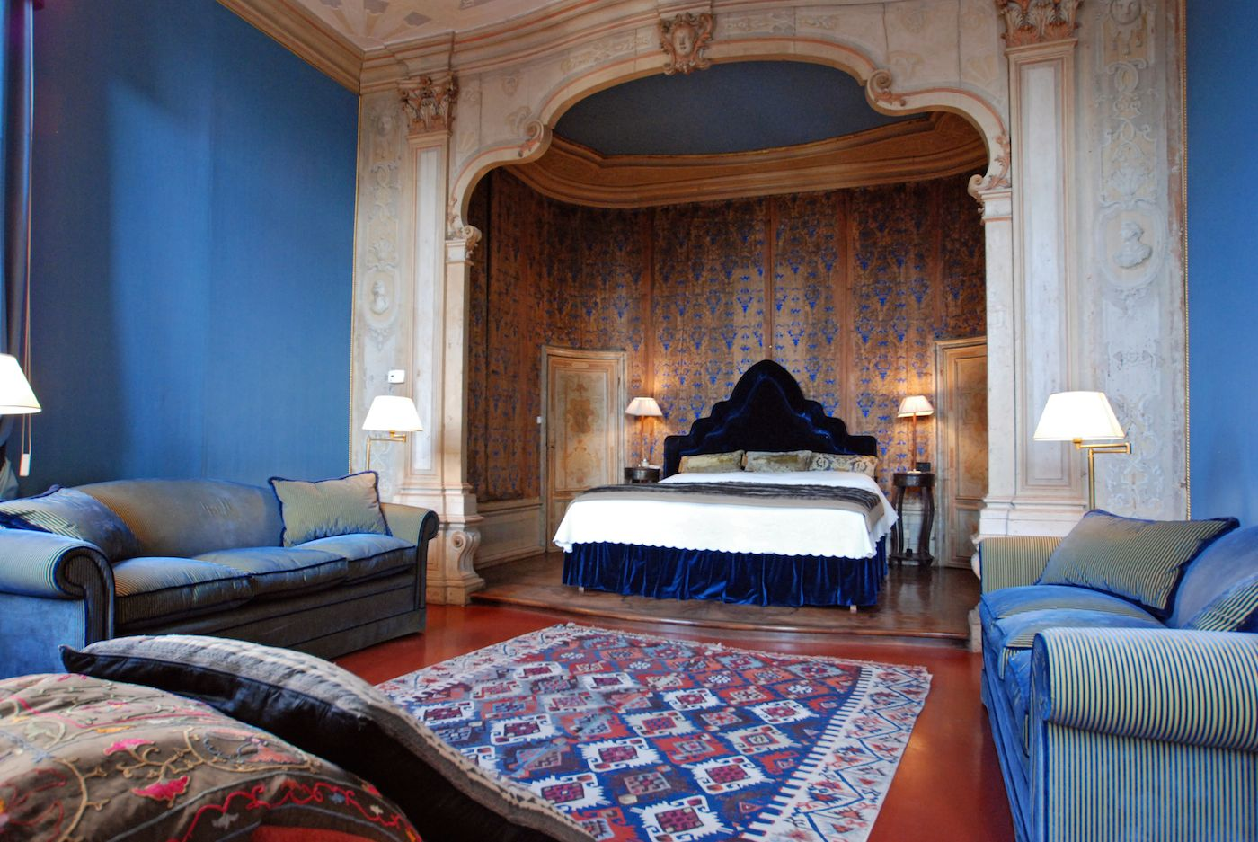 the master bedroom with an authentic 18th century alcova