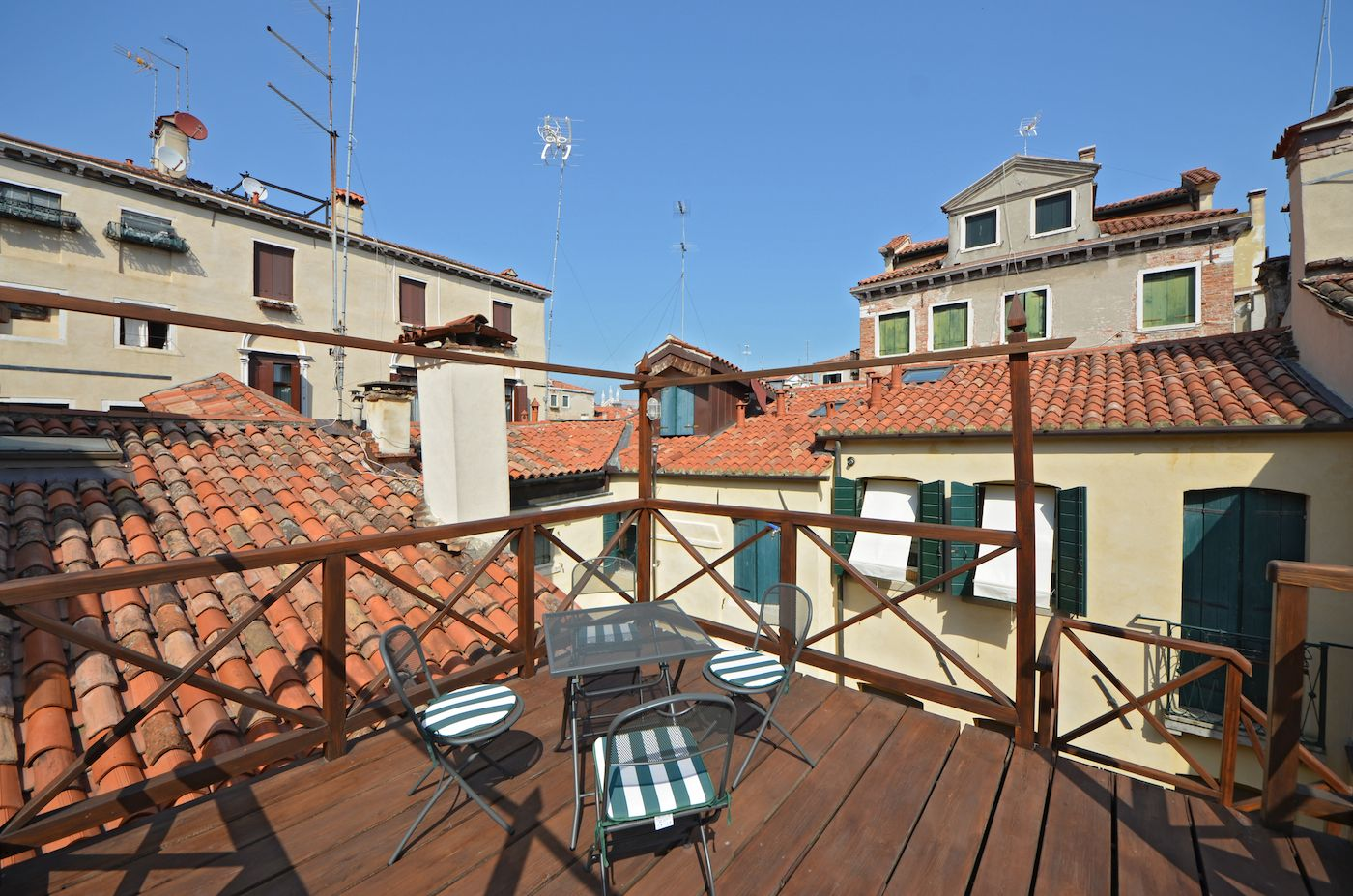 the terrace is very spacious and easily accessible