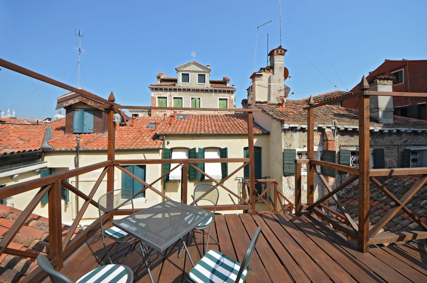 from the bedroom you can access to the famous Altana (wooden roof-top terrace)