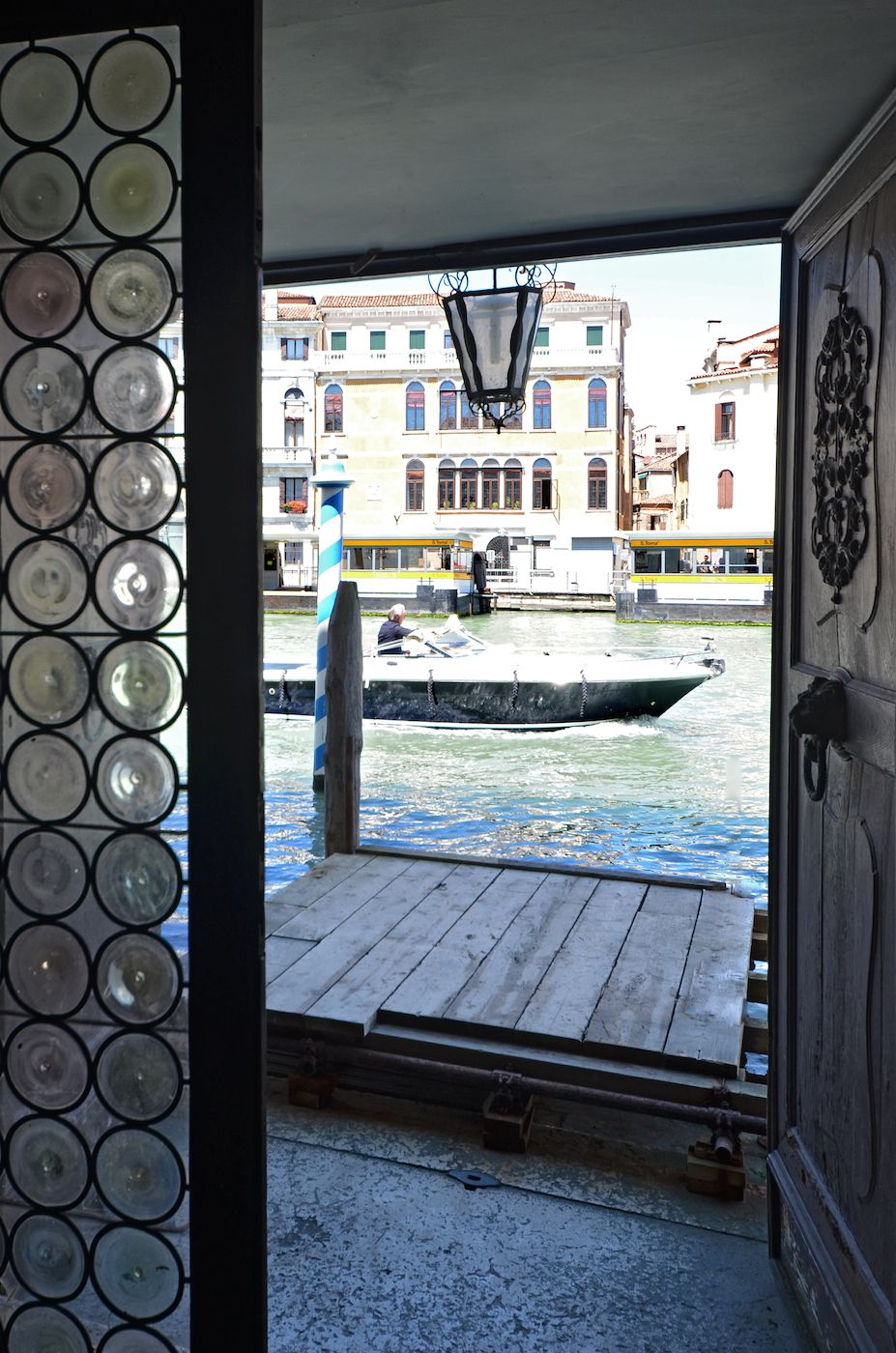 private entrance from the water door on Grand Canal