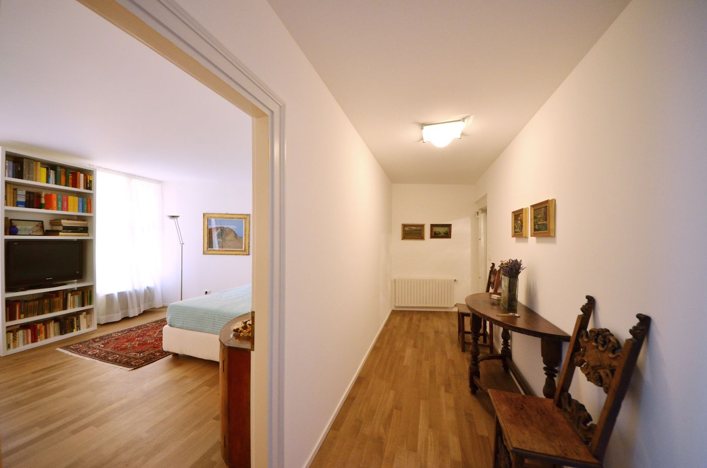 entrance room of the Vendramin apartment that leads to the master bedroom