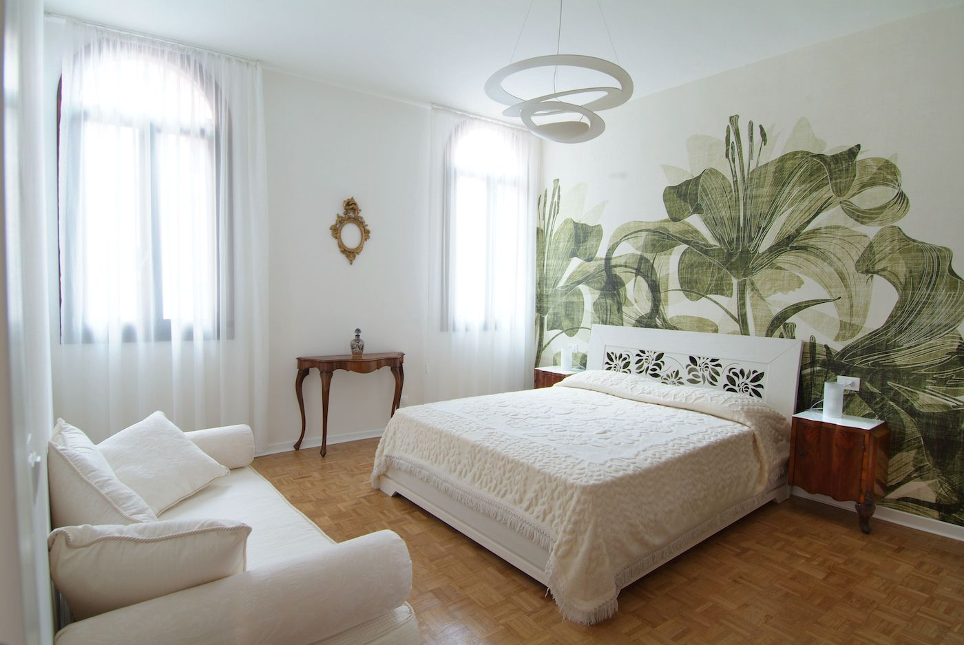 spacious and bright double bedroom