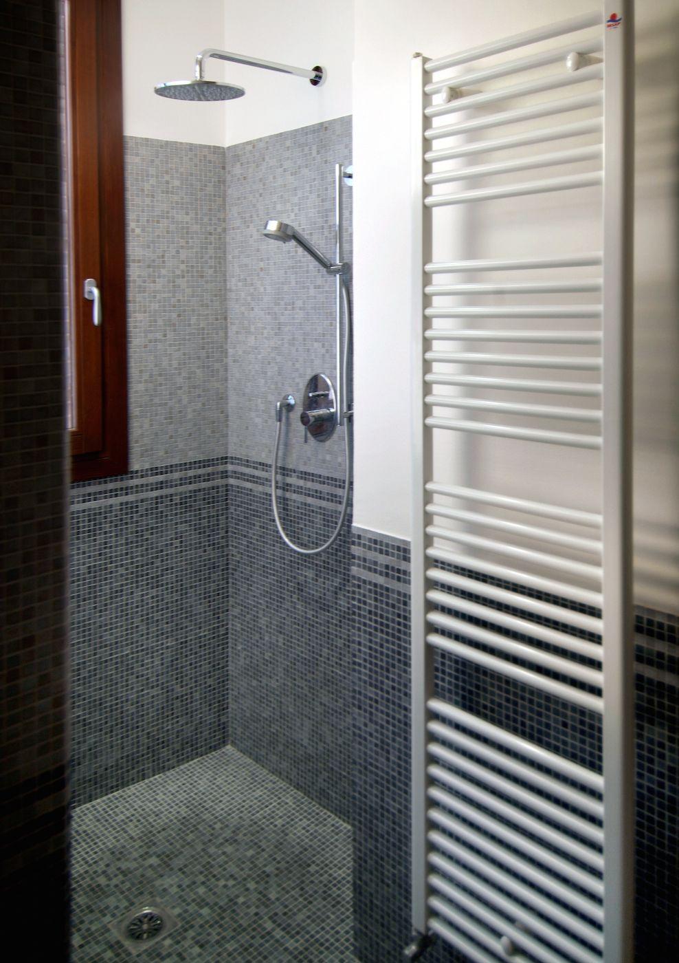 spacious bathroom with big shower