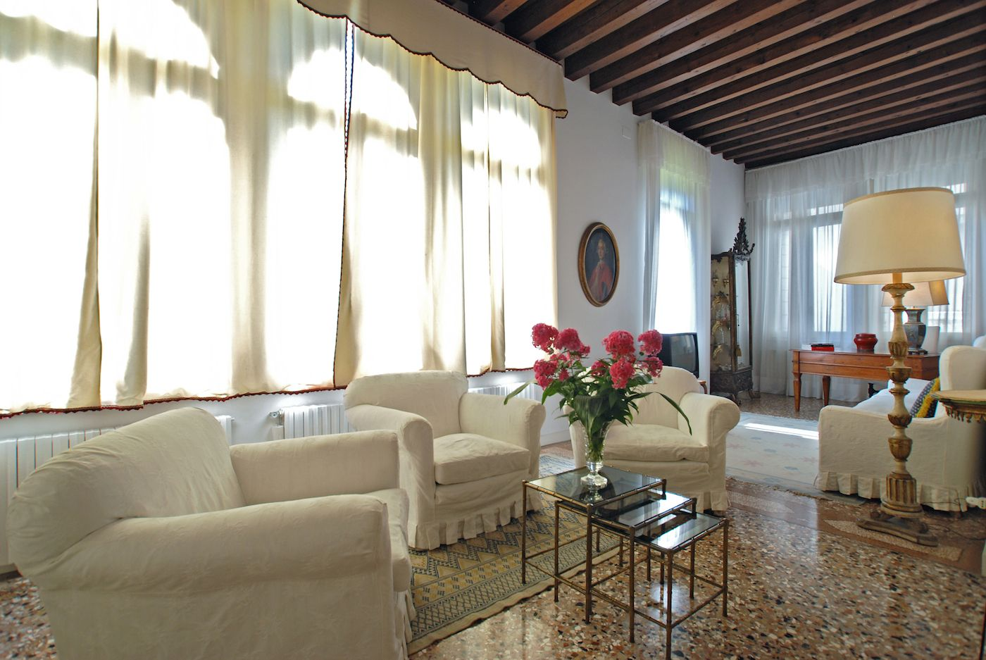 the prestigious living area of the Rezzonico Palace apartment