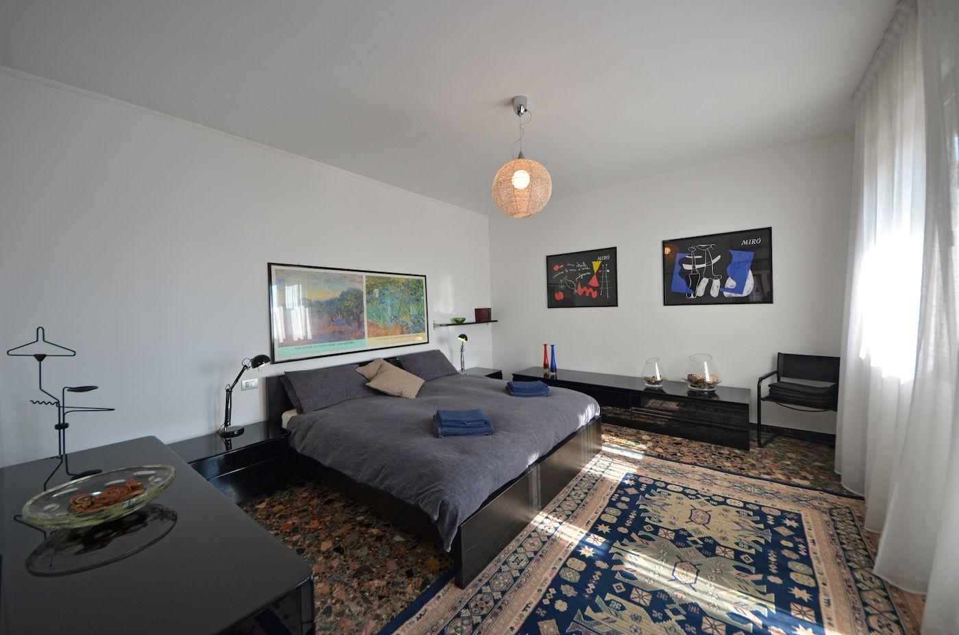 luminous master bedroom with sunny terrace