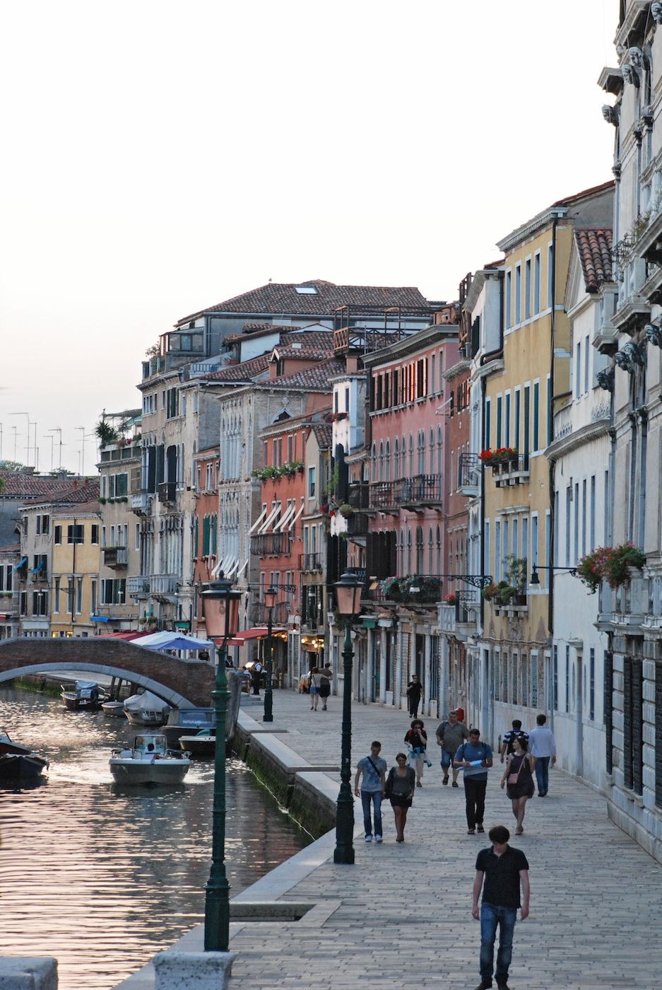 enjoy strolling along Fondamenta della Misericordia at sunset