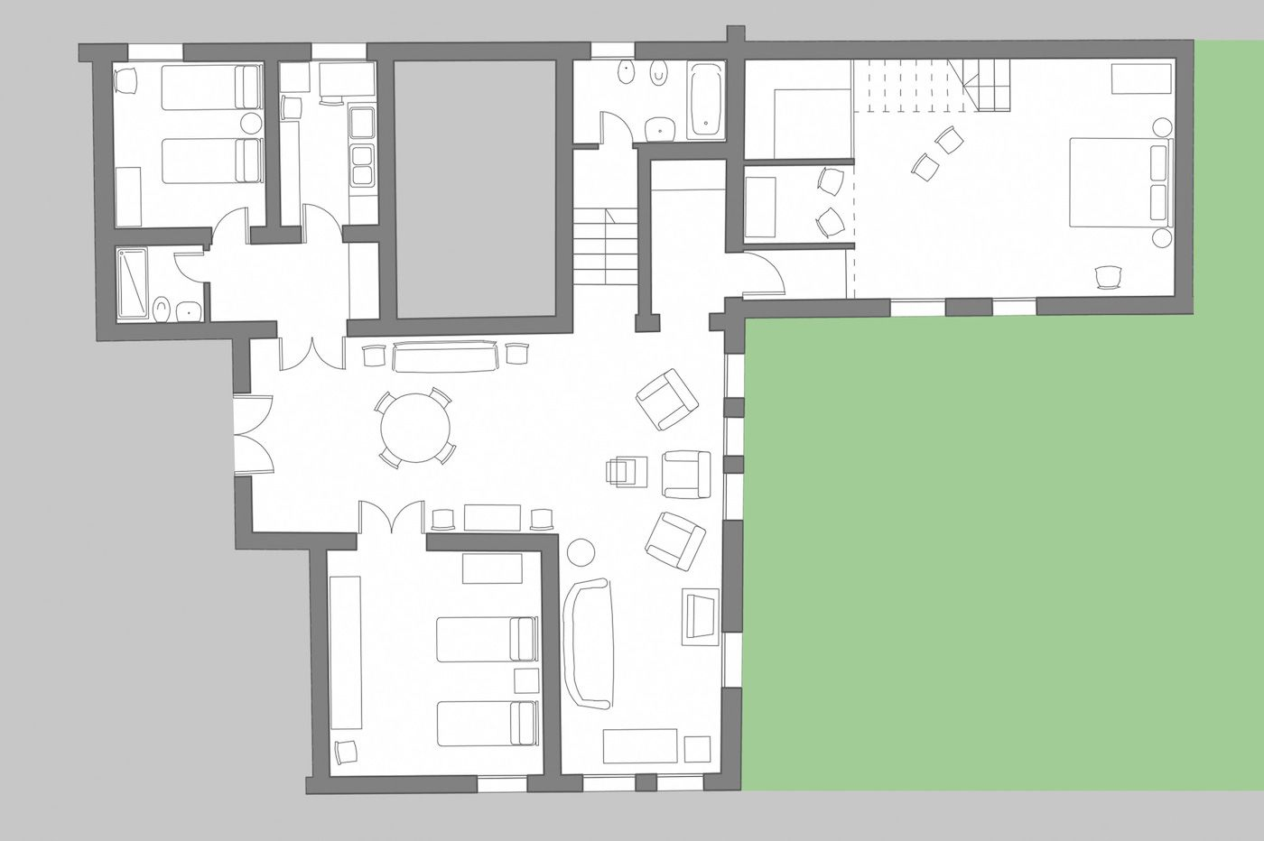Rezzonico Palace floor plan