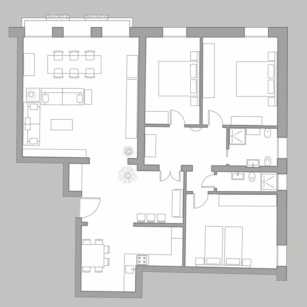 Cà Pesaro Piano Nobile floor plan