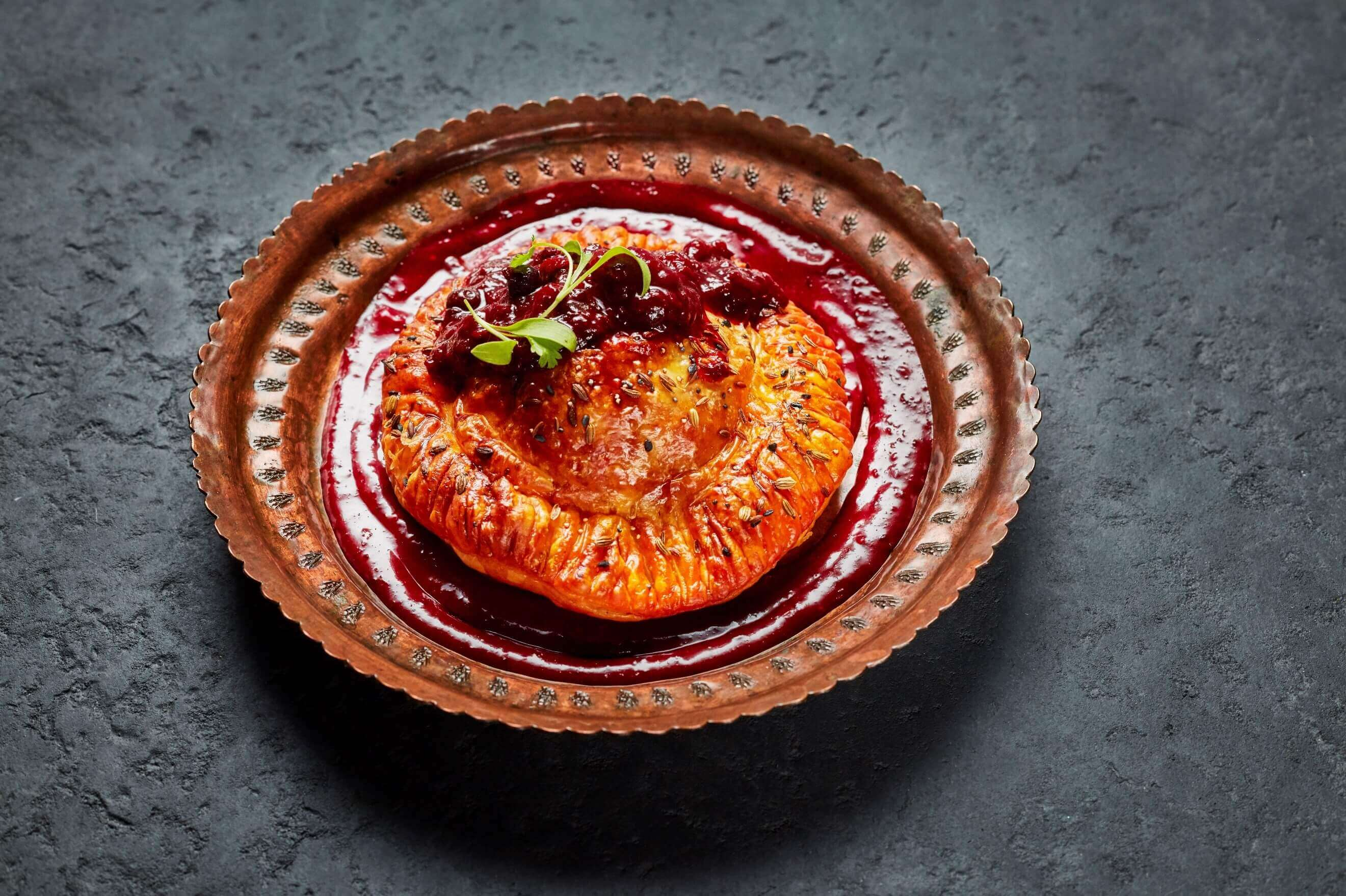 Atul S Chicken Tikka Masala Pie With Wild Berry Compote