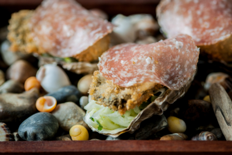 Crispy Porthilly Oysters Paul Ainsworth David Griffen Photography