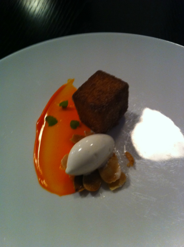 13th Course Warm Spiced Bread Buckthorn Curd Salted Almonds 1