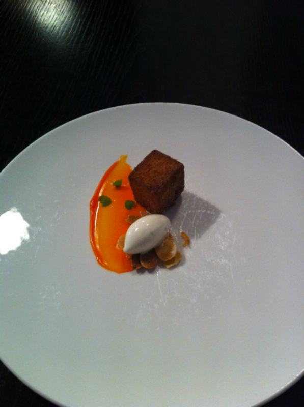 13th Course Warm Spiced Bread Buckthorn Curd Salted Almonds 2