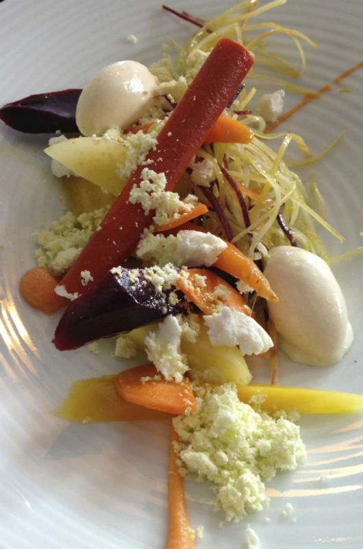 Heritage carrot, Goat cheese sorbet