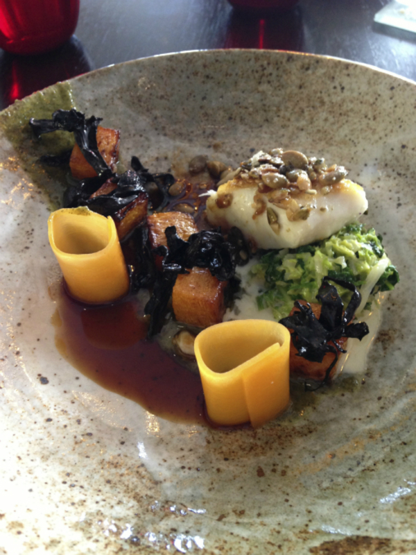 Halibut, Pumpkin, Savoy & Seeds