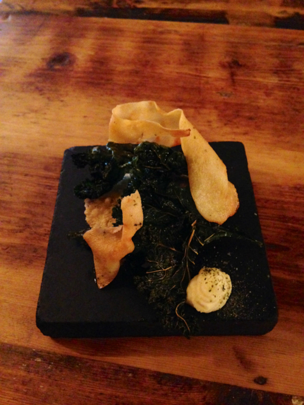 Crisp Kale, Cultured cream