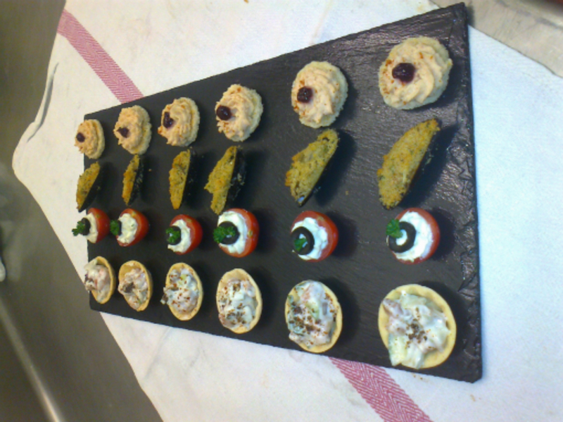 Canapes on Welsh Slate