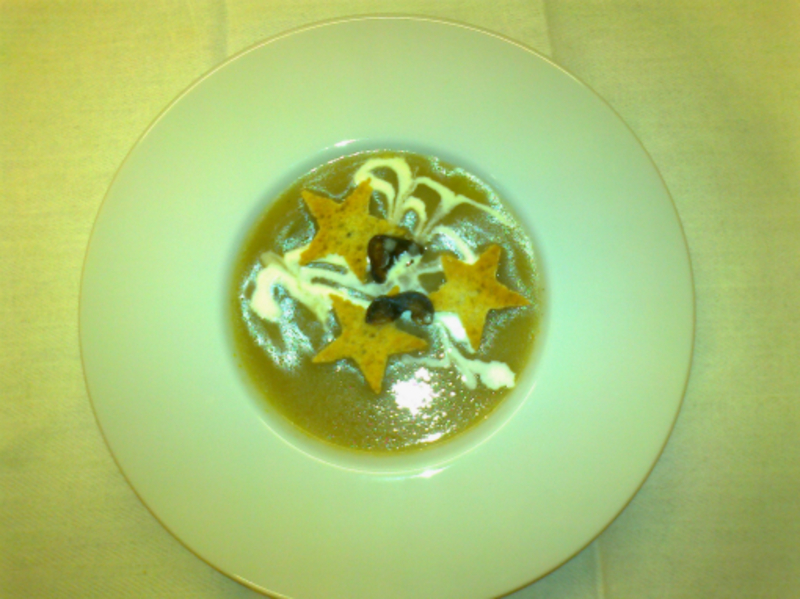 Leek and Chestnut soup