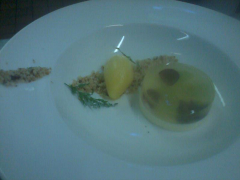 Sweet Cicilly Panna Cotta Spruce Jelly Grapes Manderin Sorbet