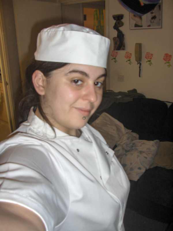 me in chef outfit