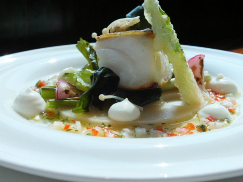 cod ,oyster,  soybean paste, wakame