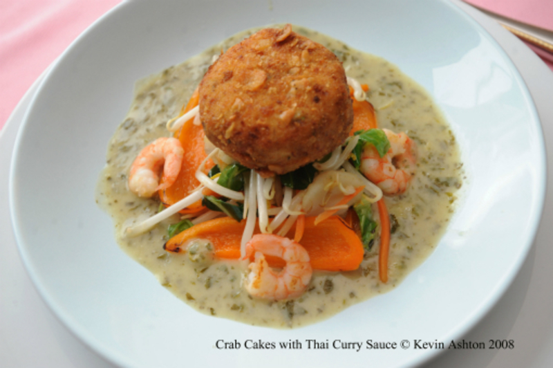 Crab Cake With Thai Curry Sauce