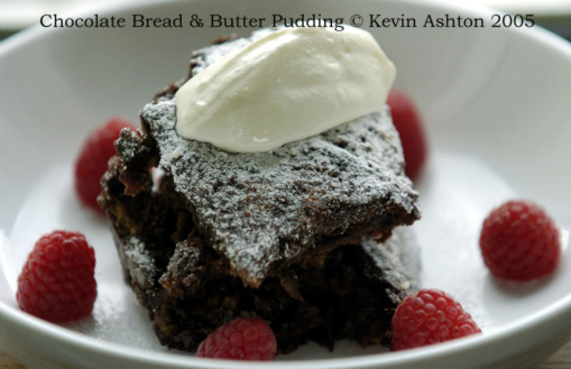 Chocolate Bread And Butter Pudding Small