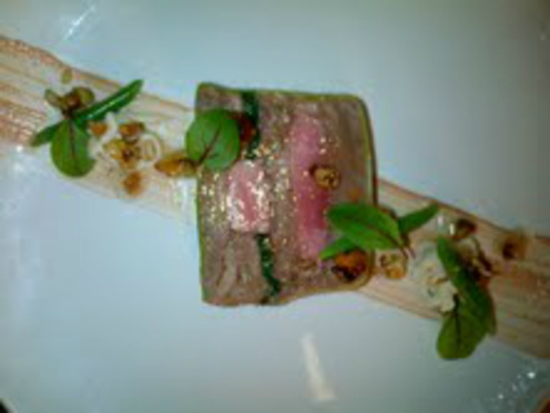 Confit Duck Leg And Breast Terrine Duck Liver Parfait Celeriac And Wallnuts