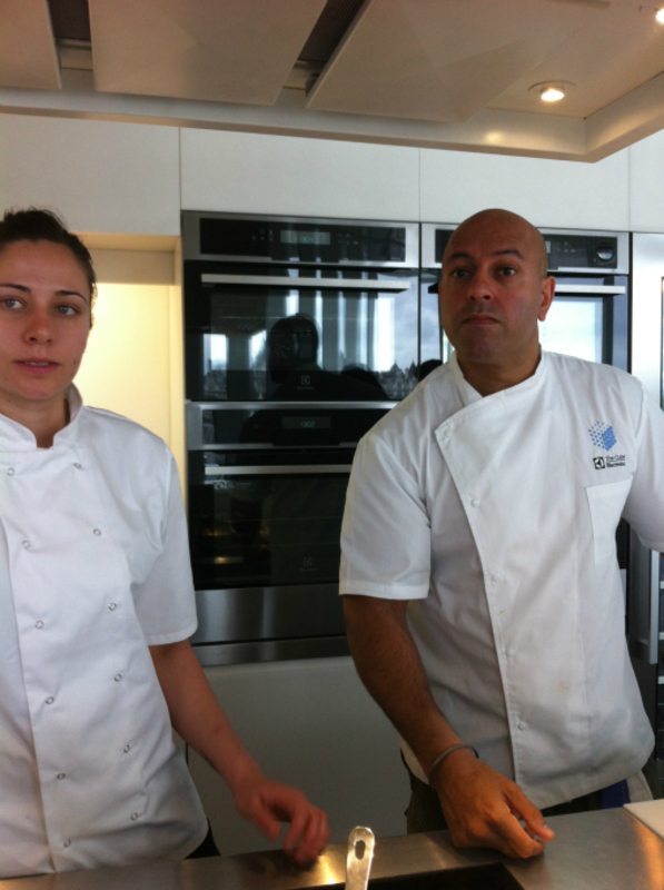 sat and emma, one of the development chefs