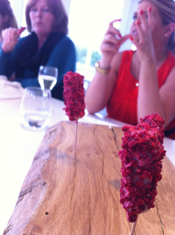 petit four- raspberry, beetroot and white chocolate 2